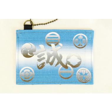 誠 カードケース家紋 青